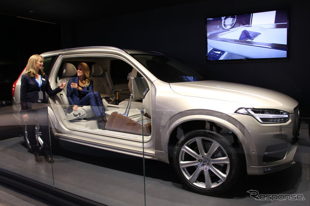 Shanghai motor show 15 Volvo XC90 new and no passenger seat concept car