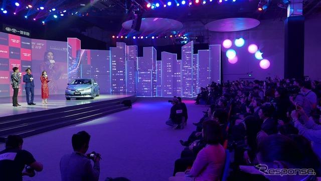 """معرض شنغهاي للسيارات عشية عقد تويوتا 'bi-geki ليلة 1"""""""