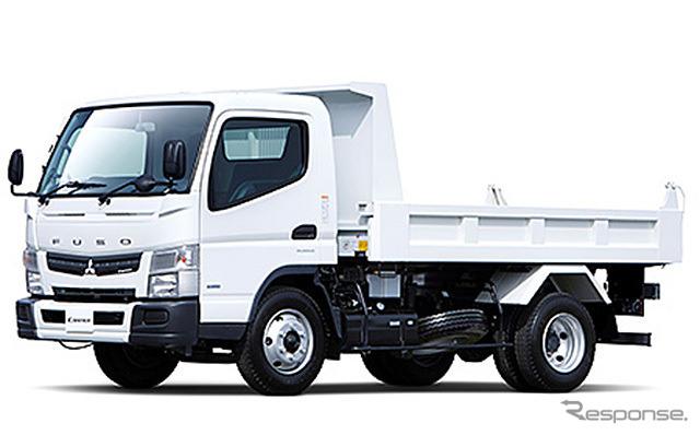 Mitsubishi Fuso Canter 4 ton beban dump