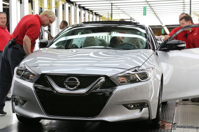 New Nissan Maxima that has started production in Smyrna Plant in Tennessee, United States
