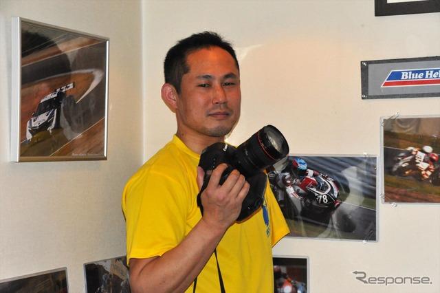 Arm support Kuwashima, amateur race photographers
