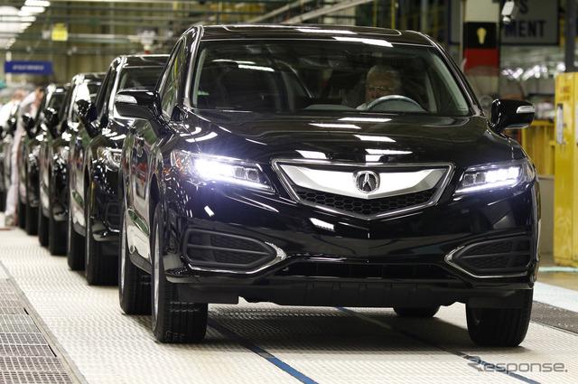 Started production in United States, Ohio, East Honda Acura RDX 2016 models.