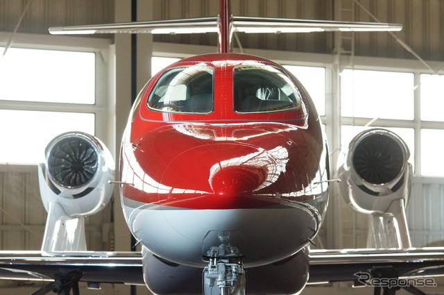 The special feature of its styling is the wing-mounted engine.