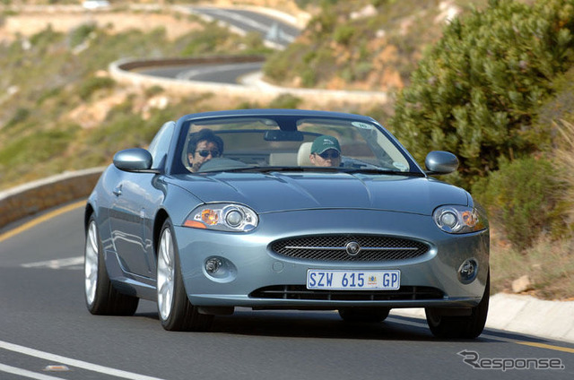 The Jaguar XK convertible""