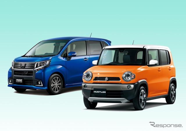 Daihatsu Move (left) and Suzuki Hustler (right)