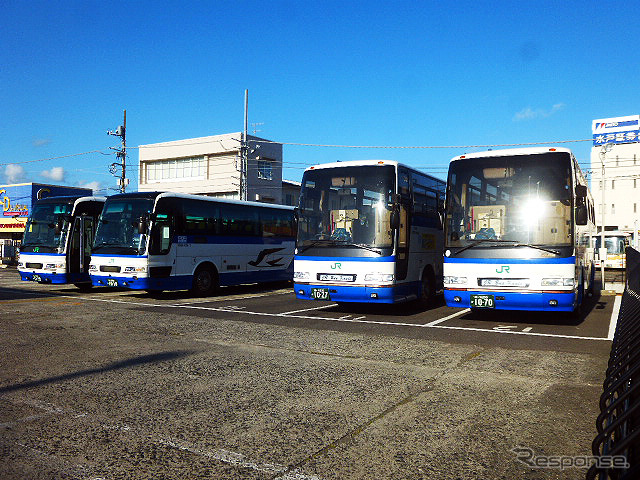 High speed bus line Tateyama station (5/2)