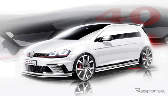 VW Golf GTI to club sports. 265-horsepower high-performance concept