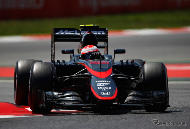 Spain Grand Prix Jenson Button received the checkers in 16th place.