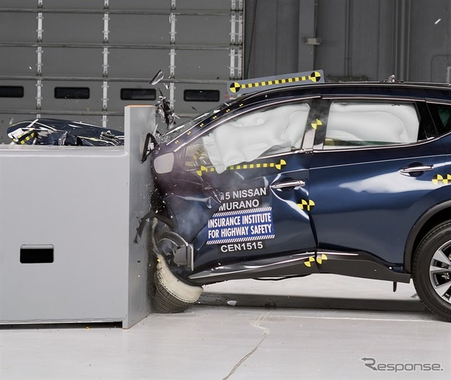 Of new Nissan Murano IIHS crash test