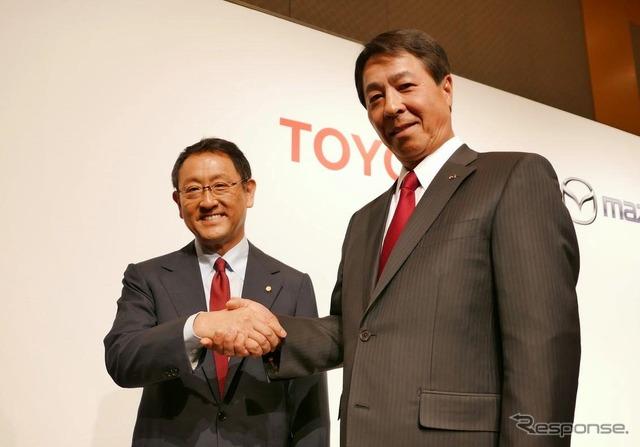 أكيو تويودا، تويوتا ومازدا الراعي، رئيس م.