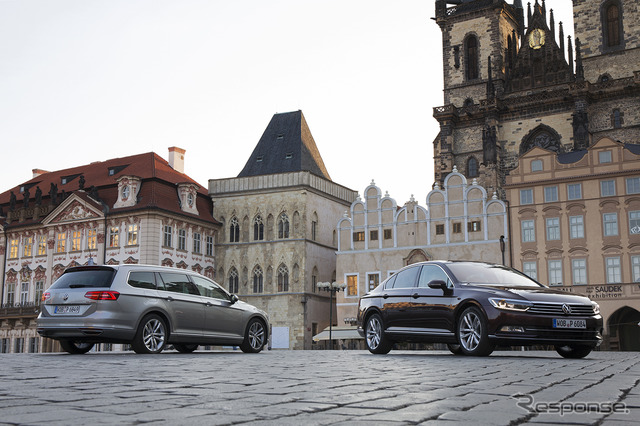 VW Passat sedan & variant overseas test
