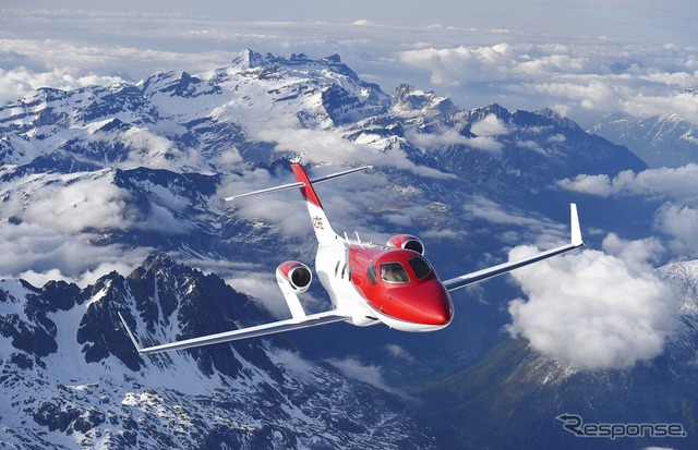 The HondaJet makes its first visit to Europe