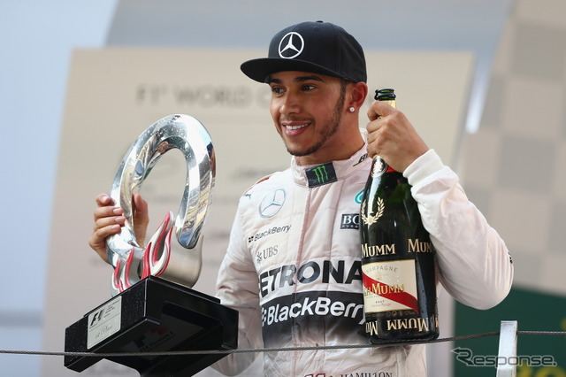 Hamilton announced the contract extension and Mercedes