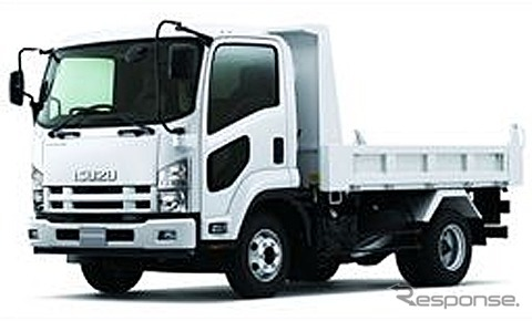 Isuzu medium-duty truck forward (the reference image)