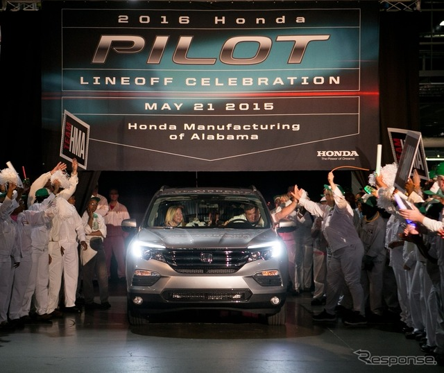 The new Honda Pilot which started production in the US
