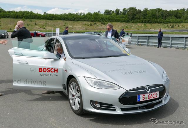 Latest car introduced by Bosch's Tesla model S base