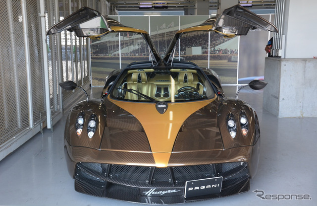 "Pagani was exhibited at Suzuka sound of engines ""will"""