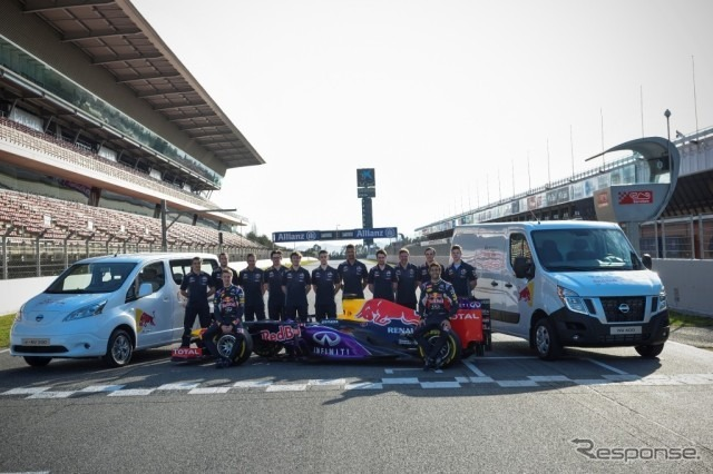 Nissan's light commercial vehicles that will support F1's Infiniti Red Bull Racing