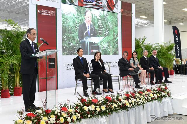 อวยพรในพิธีเปิดโรงงานใหม่ในเม็กซิโก Oishi ทาคาโอะ(แอนดี้)โยยางผู้อำนวยการอาวุโสบริหาร MB ค่า (ซ
