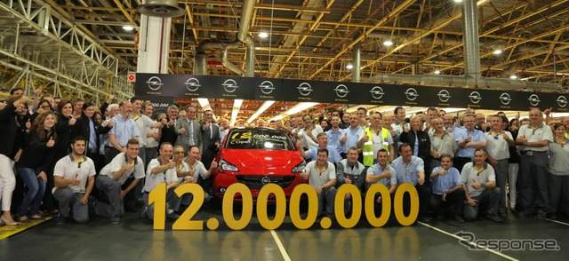 GM achieved a cumulative production of 12 million Spain plant