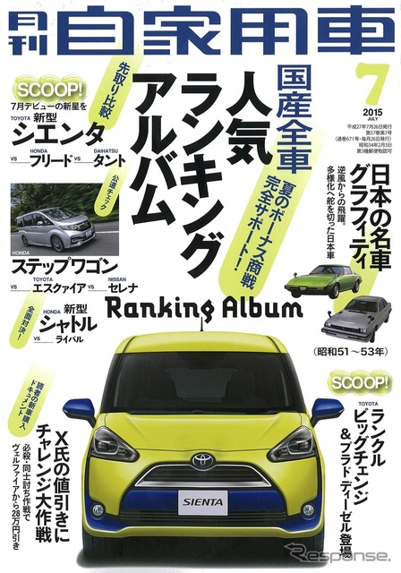 July issue of monthly private car in 2015