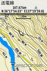 Contour lines 10 m units are displayed in mountainous areas Transmission lines are also been displayed this set sold Japan climbing Mountain topographic map (TOPO10MPlusV3),