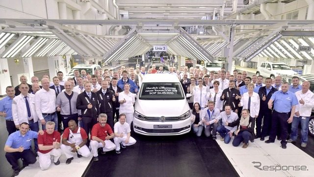 Production was started in Germany new Volkswagen Touran