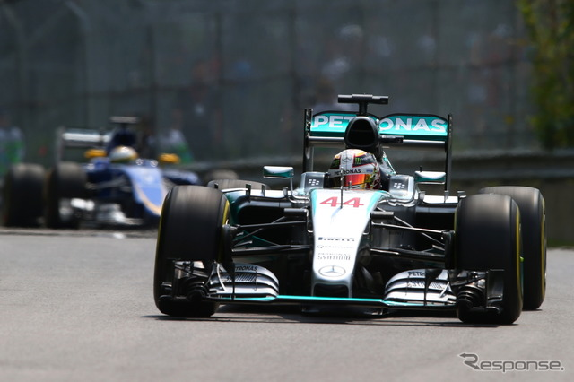 Canada GP first day top Lewis Hamilton.