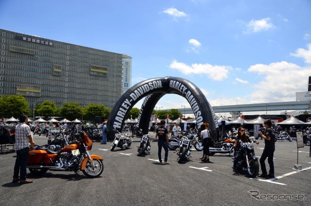 Event at Odaiba, you can experience Harley with or without license. RIDE ON TOUR Tokyo