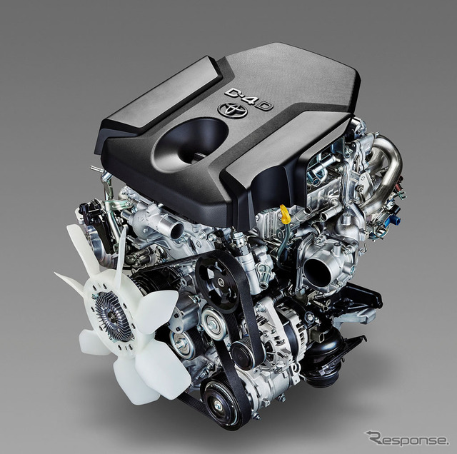 New 1GD-FTV 2.8L in-line turbo diesel engine