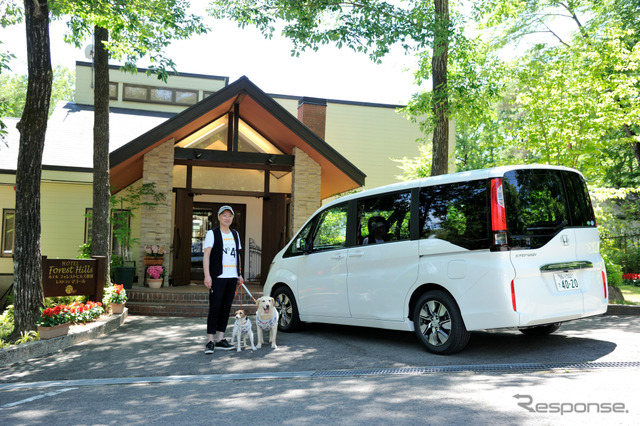 Honda step WGN and their dog's journey Aimed at the early summer Nasu Photos arrived at the forest Nasu