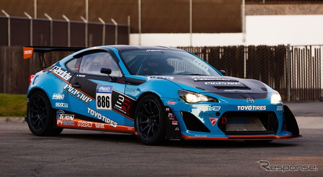 The participating entry, the Scion FR-S (Toyota 86) for the Pikes Peak International Hill Climb.