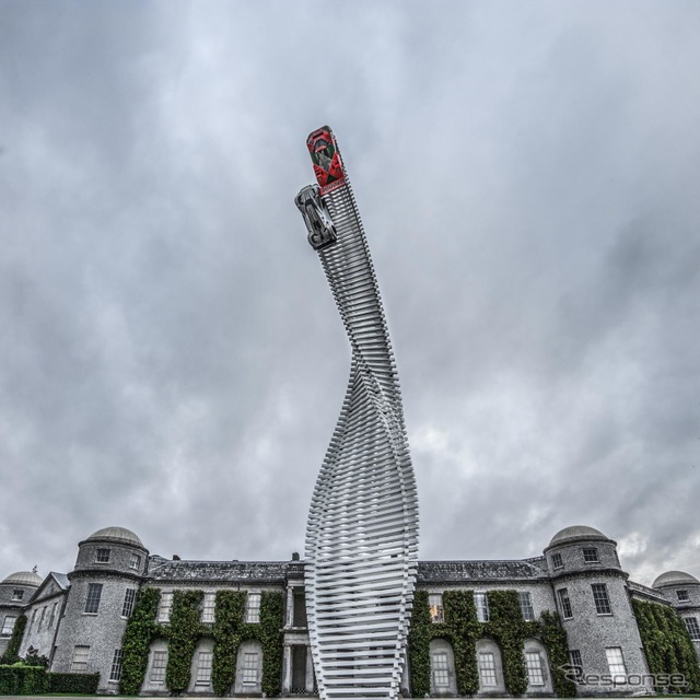 Mazda appeared in the Goodwood sculpture