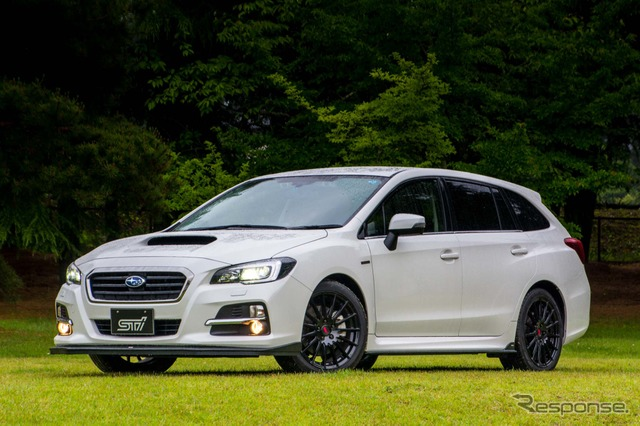 Subaru Levorg vehicle equipped with STI performance package