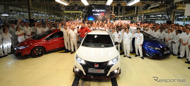 Honda commences production of new Civic Type R at Swindon Plant in the UK