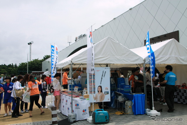 Took place in the booth of EBINA (downlink) maple Navi touch & try