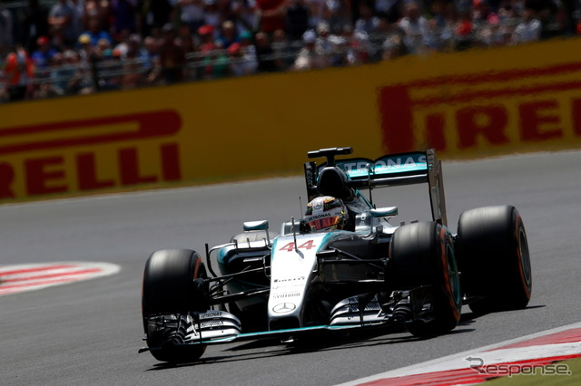 Stunning home Grand Prix Lewis Hamilton won pole position