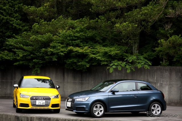 Audi A1 (right) and the Audi S1 (left)