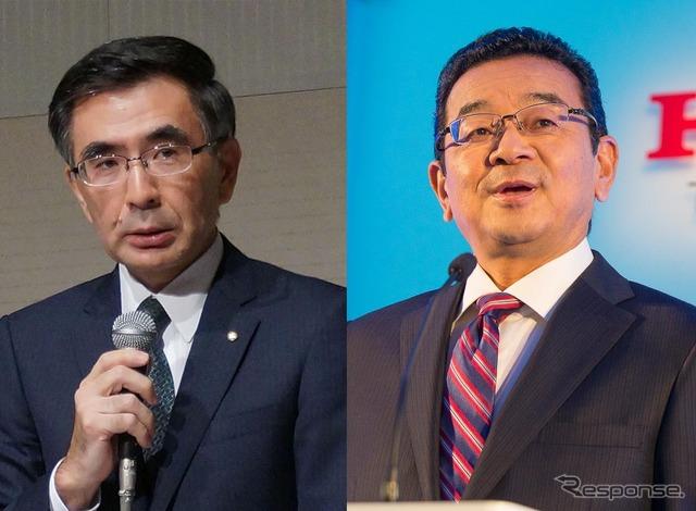 Suzuki Suzuki, Toshihiro President (left) and President of Honda yasato Takahiro (right)