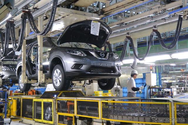Nissan Motor Kyushu production line
