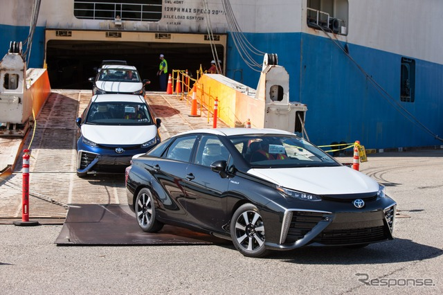 The first Toyota Mirai to arrive in the United States