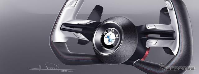 Notice sketches of the BMW concept car
