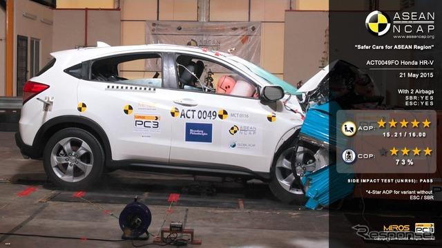 Honda Vesel got the highest rating in ASEAN collision test