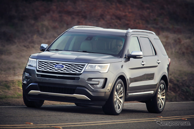 In 2016, the Ford Explorer type.