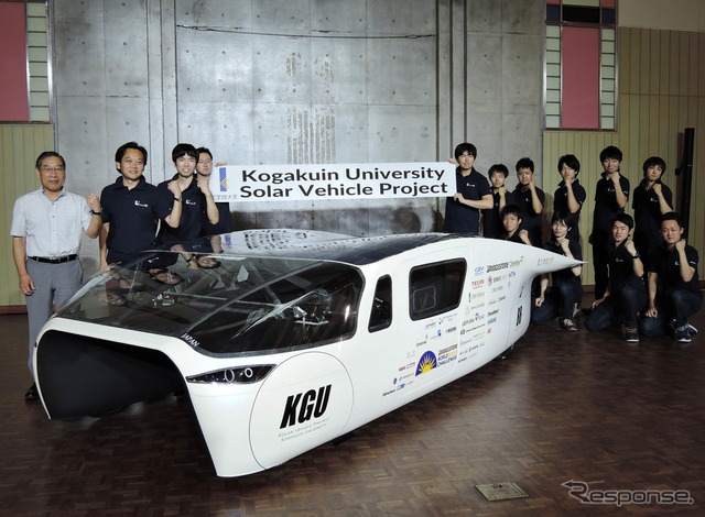"Kogakuin University participated in the WSC2015 solar ""OWL"" and our members"