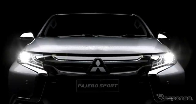 Teaser image of new Mitsubishi Pajero Sport
