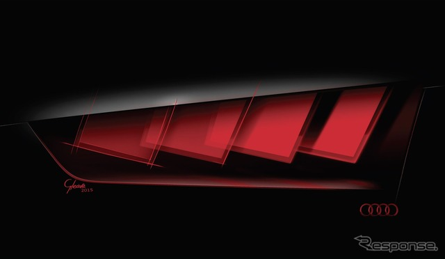 New concept car Audi tail lights to adopt matrix OLED technology