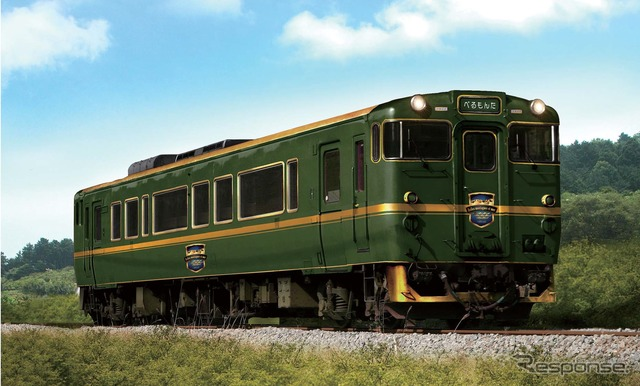Start the operation from 10/10 johana, Himi line tourist train Train name was Belle Montagne et Mer