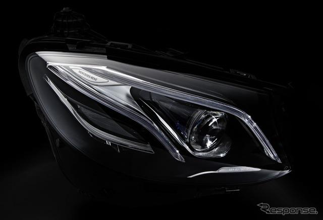 The next-generation Mercedes E class multi beam LED headlamps