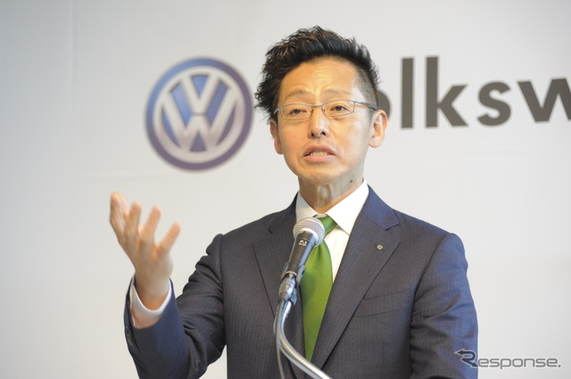 Volkswagen Group Japan sho with 7/31 announced that President 司茂 said (source image)